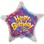 "BIRTHDAY STREAMERS BALLOON  18"" 17935-18"